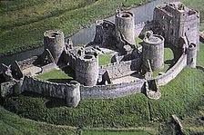 Kidwelly castle from the air