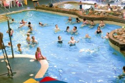 Indoor swimming pool at Carmarthen Bay
