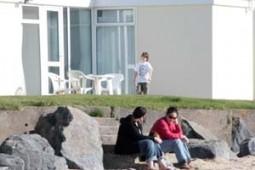 stone throw from beach